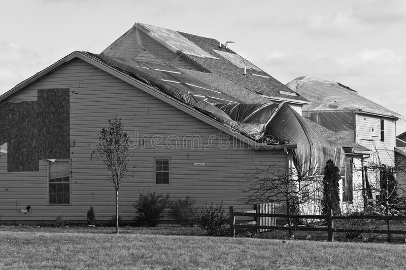 Tornado Storm Damage III - Catastrophic Wind Damage from a Tornado. Tornado Storm Damage III - Catastrophic Wind Damage from a Midwest Tornado royalty free stock photography