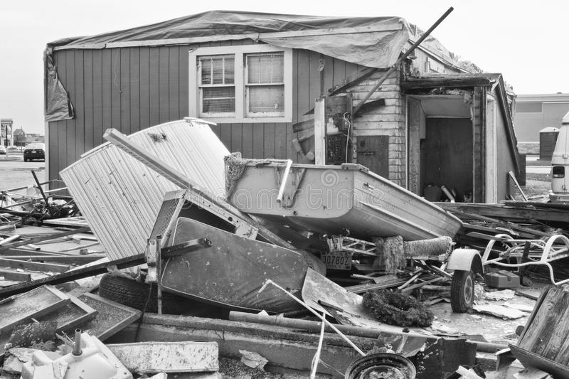 Tornado Storm Damage XIII. Catastrophic Wind Damage from a Midwest Tornado stock photos