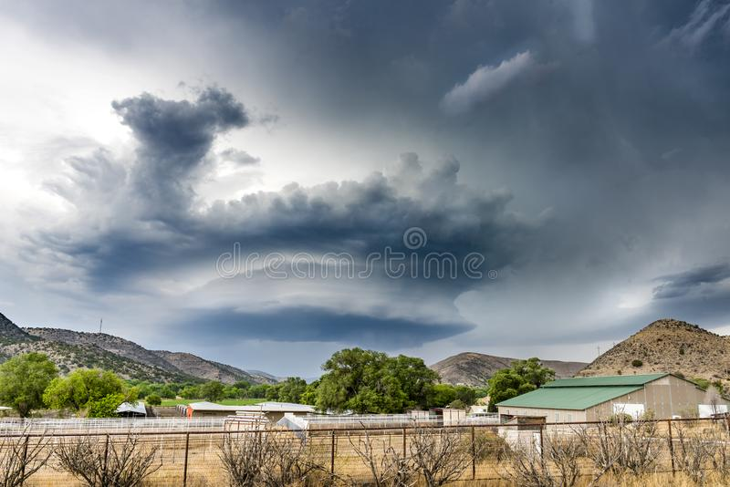 Tornado Supercell in Oklahoma royalty free stock photo