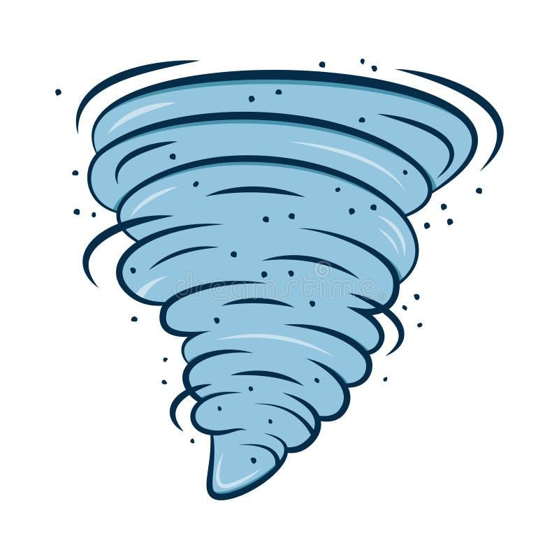 Tornado symbol odizolowywający na białym tle ilustracja wektor