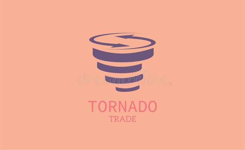 Tornado trade-logo template. This image consits of opposite arrow which is representation trade. I combine arrows wit tornado. You can use it for.your logo royalty free illustration