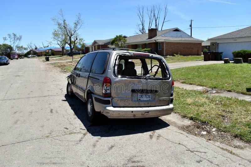 Tornado a vicinanza di Dayton, Ohio immagine stock