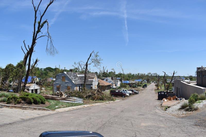Tornado w Dayton, Ohio pobliże obrazy royalty free