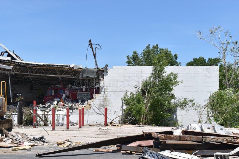 Tornado w Dayton, Ohio pobliże zdjęcie royalty free