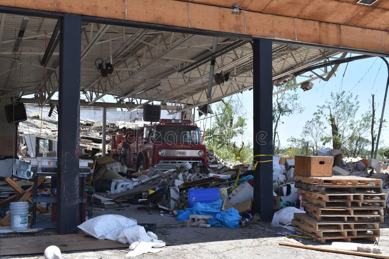 Tornado w Dayton, Ohio pobliże fotografia stock