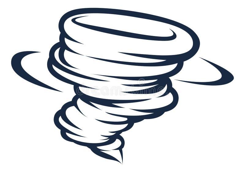 Tornado-Wirbelsturm-Hurrikan Twister-Ikone vektor abbildung