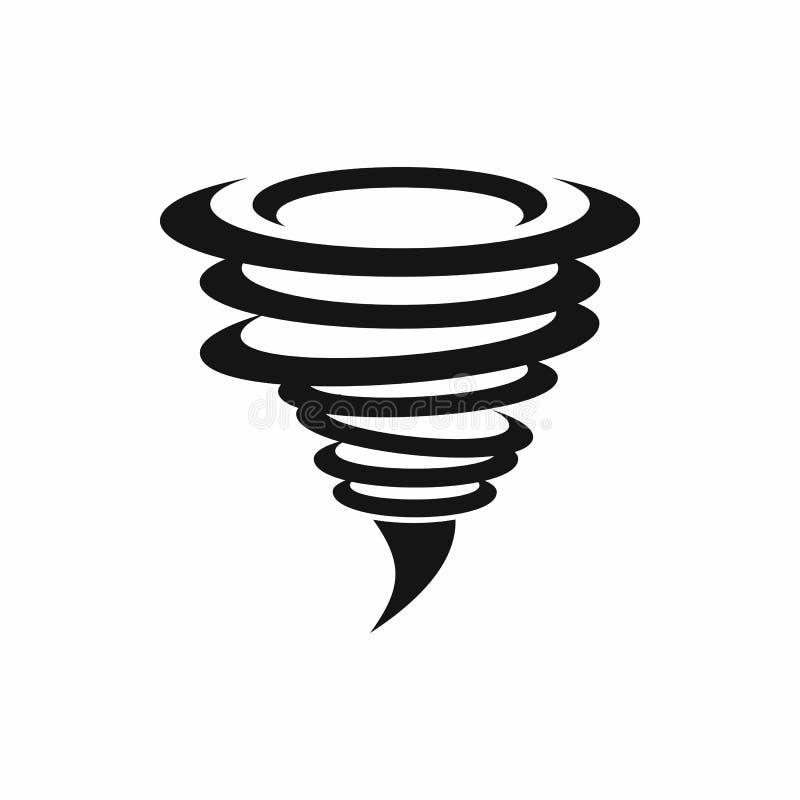 Tornadopictogram, eenvoudige stijl vector illustratie