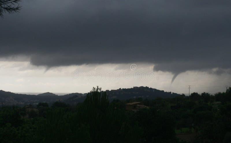 Tornados en la opinión amplia de Palma de Mallorca foto de archivo libre de regalías