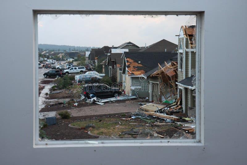 Tornadoschaden stockfoto