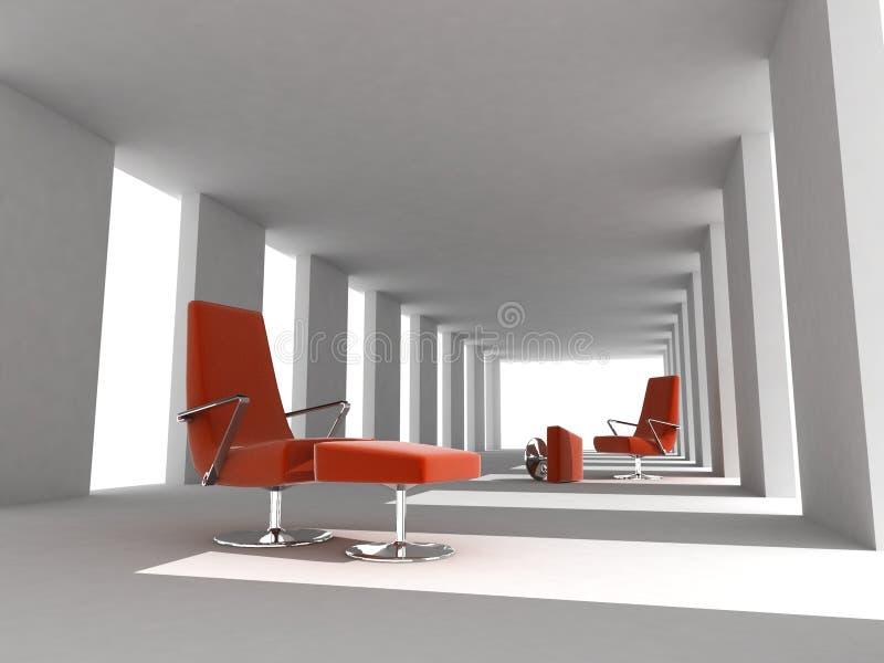 Tornando o quarto vazio moderno interior ilustração royalty free