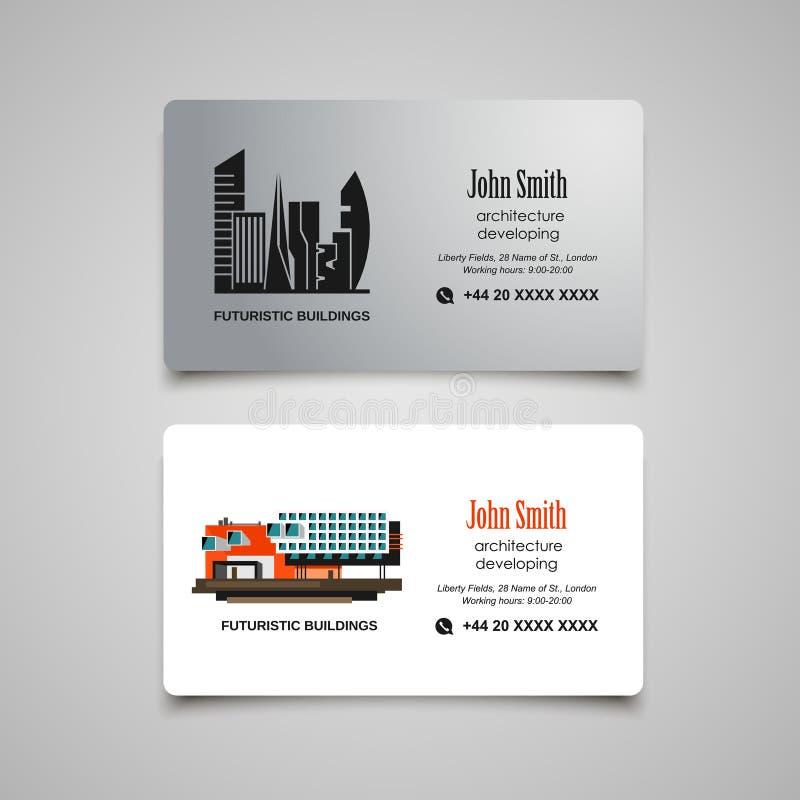 Tornar-se da arquitetura ou molde do vetor do cartão do aluguel ilustração stock