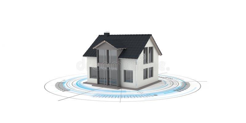 Tornar-se da construção de casa ilustração stock