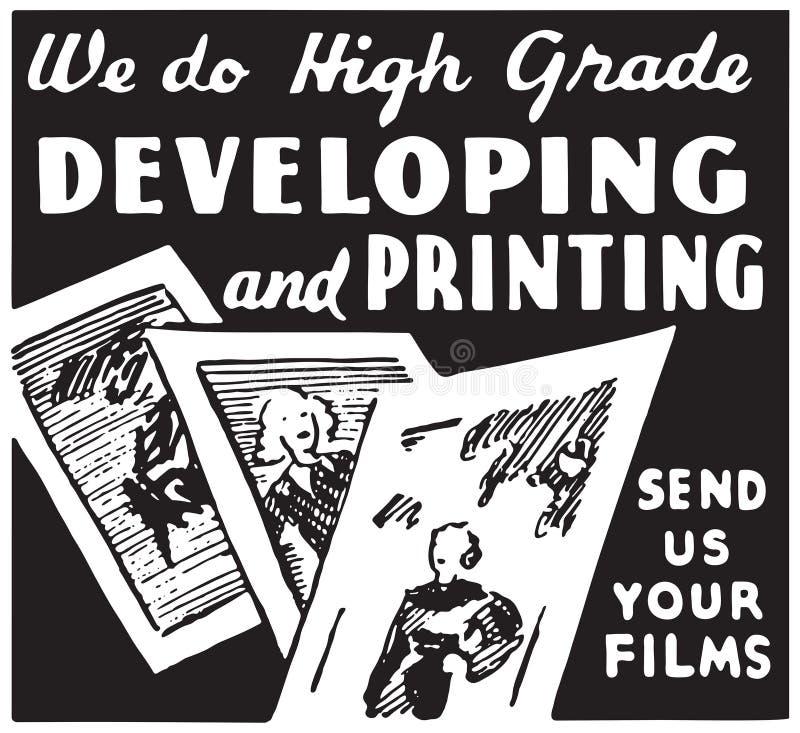 Tornar-se e imprimir ilustração royalty free