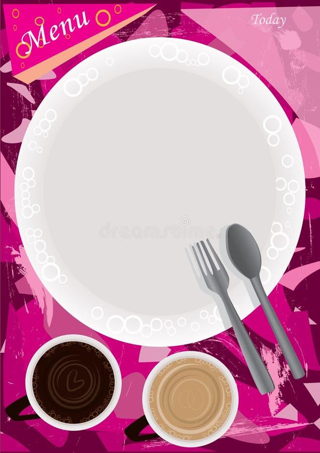 Torne côncavo o menu ilustração royalty free