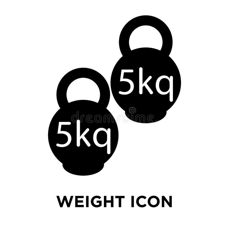 Torne mais pesado o vetor do ícone isolado no fundo branco, conceito do logotipo de ilustração stock