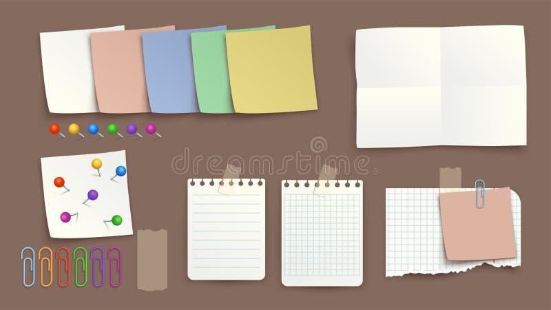 Torned изображение бумаги иллюстрация вектора