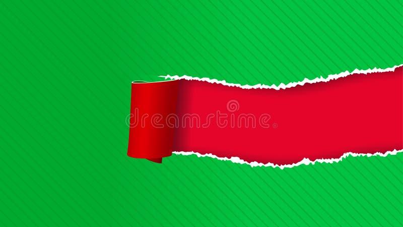Torned изображение бумаги иллюстрация штока