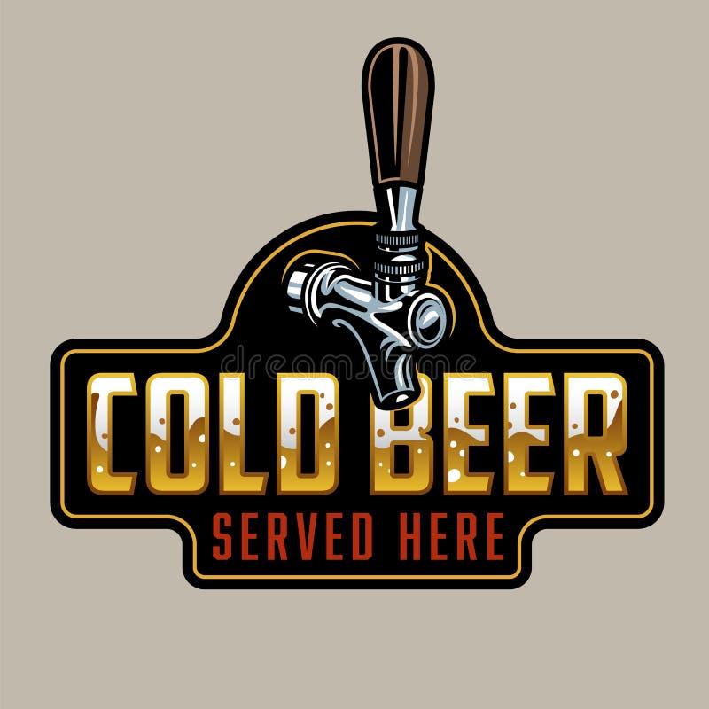 Torneira clássica da cerveja ilustração royalty free