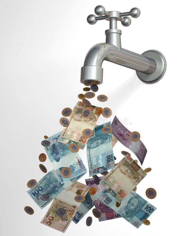 Resultado de imagem para dinheiro nas torneiras