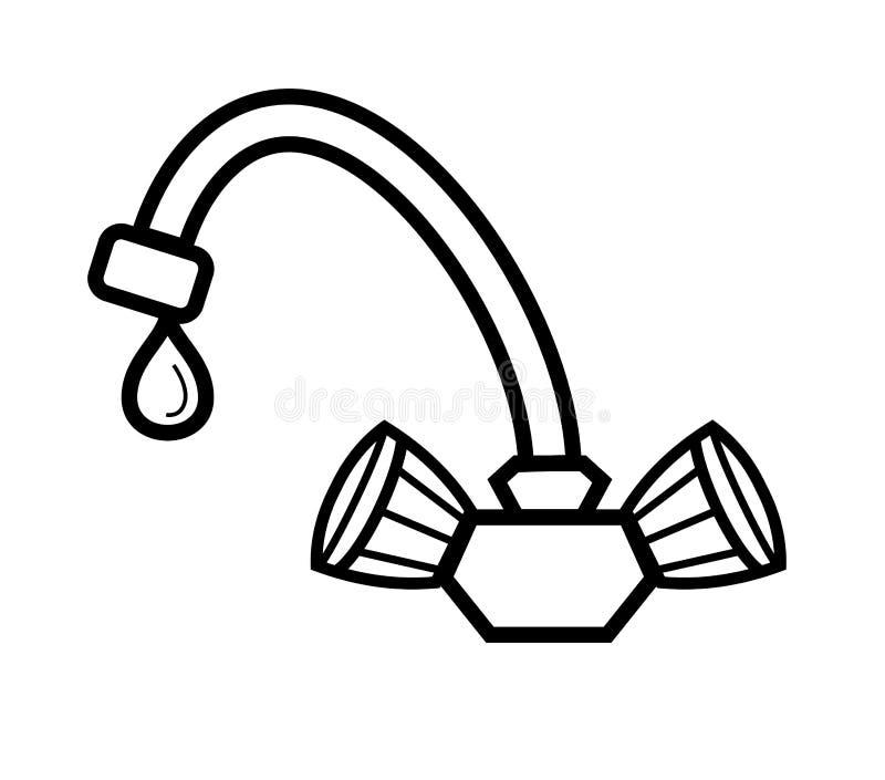 Torneira de água ilustração royalty free