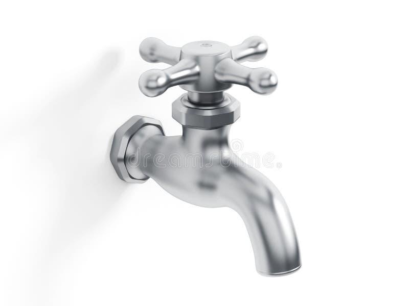 Torneira de água ilustração stock