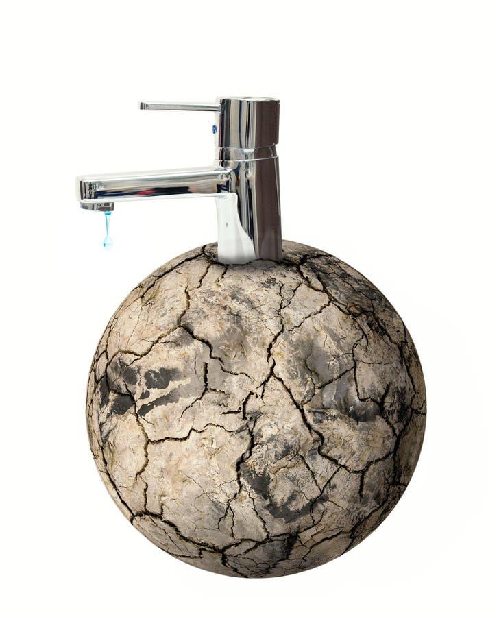 Torneira de água do mundo fotografia de stock royalty free