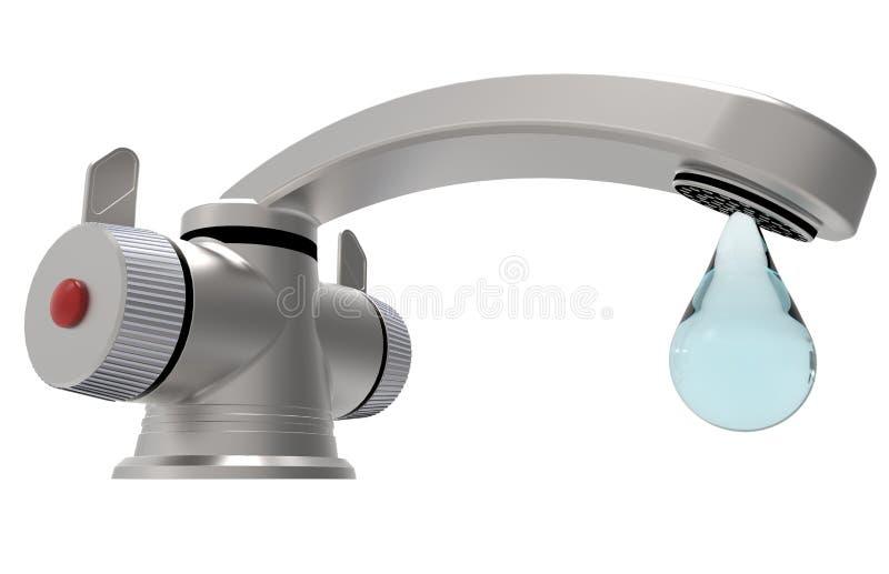 Torneira de água - gota ilustração stock