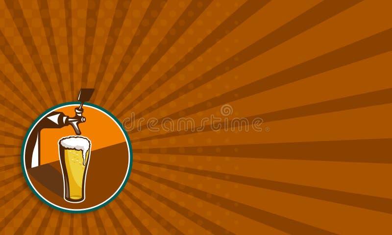 Torneira de vidro da pinta da cerveja retro ilustração royalty free