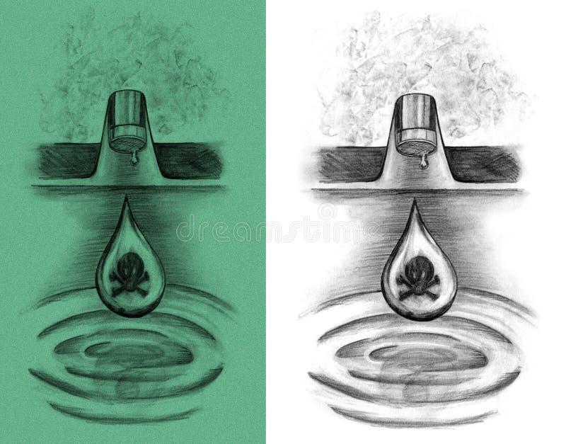 Torneira tóxica ilustração royalty free