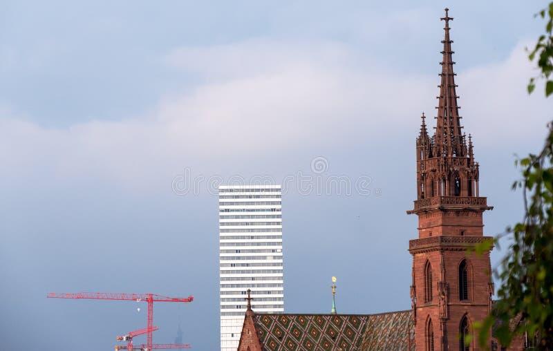Tornen av Baseln forntid och gåvan arkivfoto
