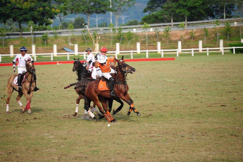 Torneo abierto 2011 del polo del Malaysian fotos de archivo