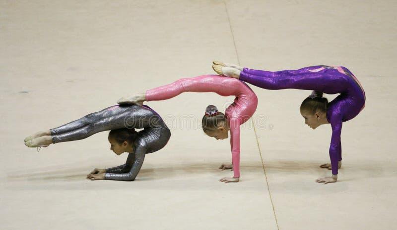 Torneo de la gimnasia rítmica imagen de archivo
