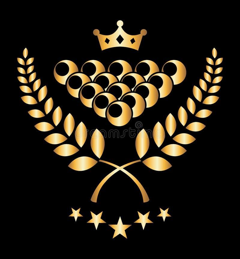Torneo del biliardo royalty illustrazione gratis