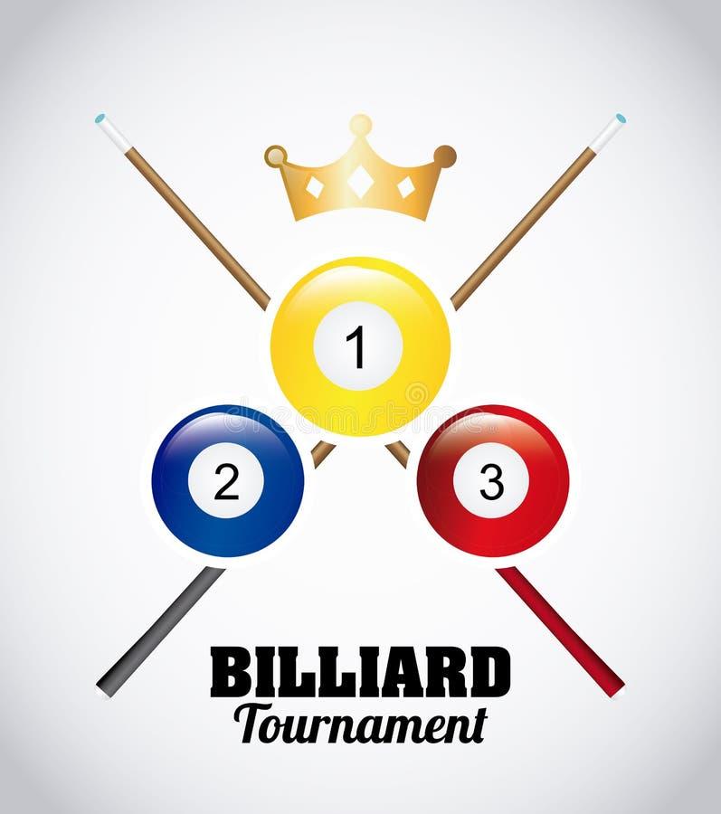 Torneo del biliardo illustrazione di stock