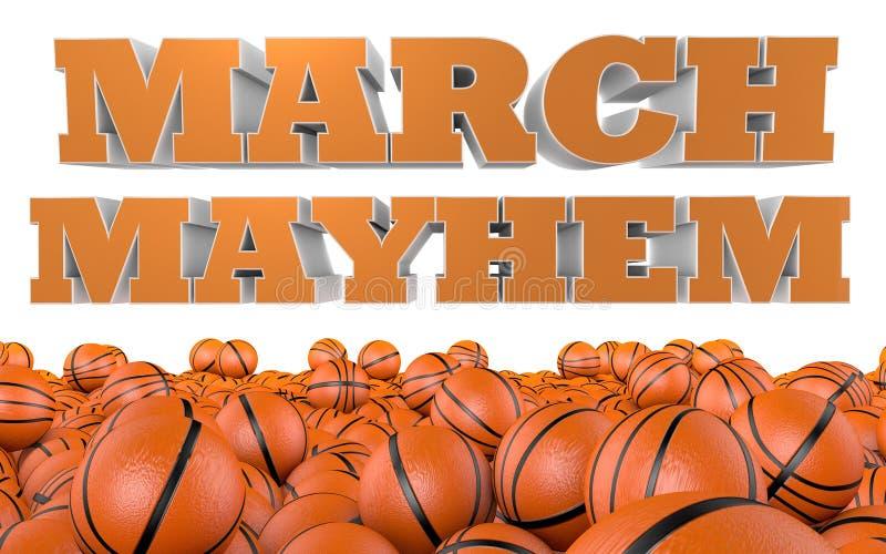 Torneo di pallacanestro dell'istituto universitario di lesione permanente di marzo royalty illustrazione gratis