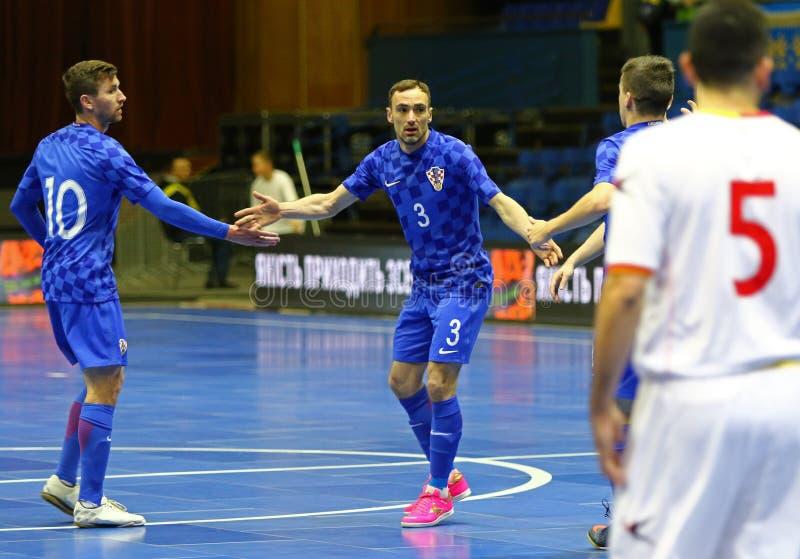 Torneo 2018 di qualificazione dell'euro dell'UEFA Futsal in Kyiv immagini stock