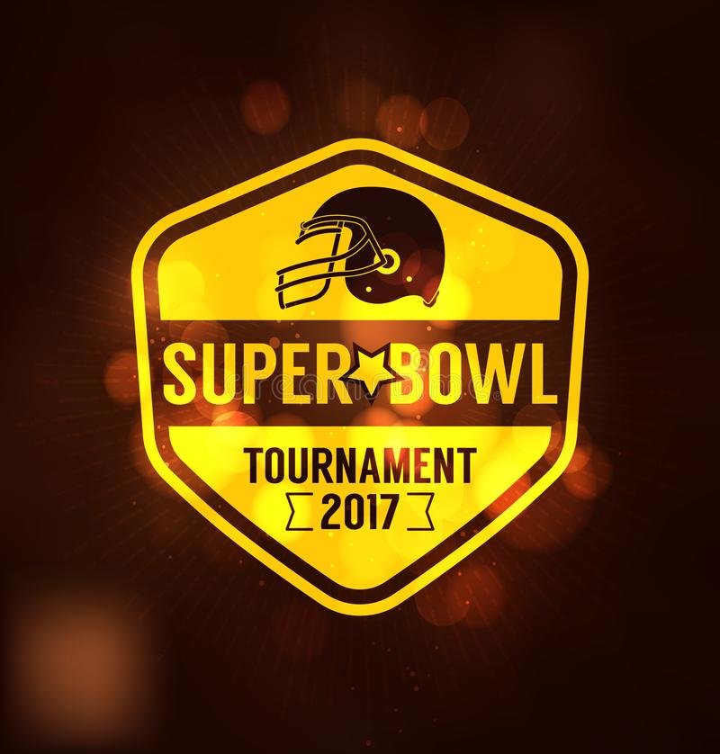 Torneo Logo Sport Design Template del Super Bowl stock de ilustración
