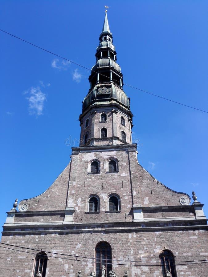 Tornet av Riga fotografering för bildbyråer