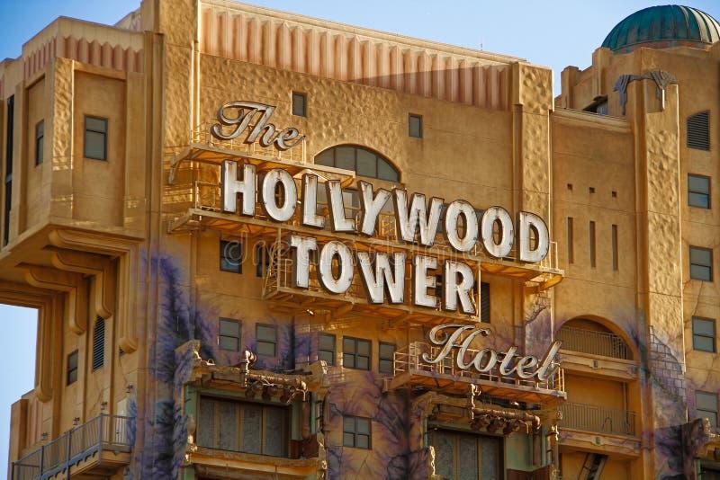 Tornet för skymningzon av skräcken arkivfoto