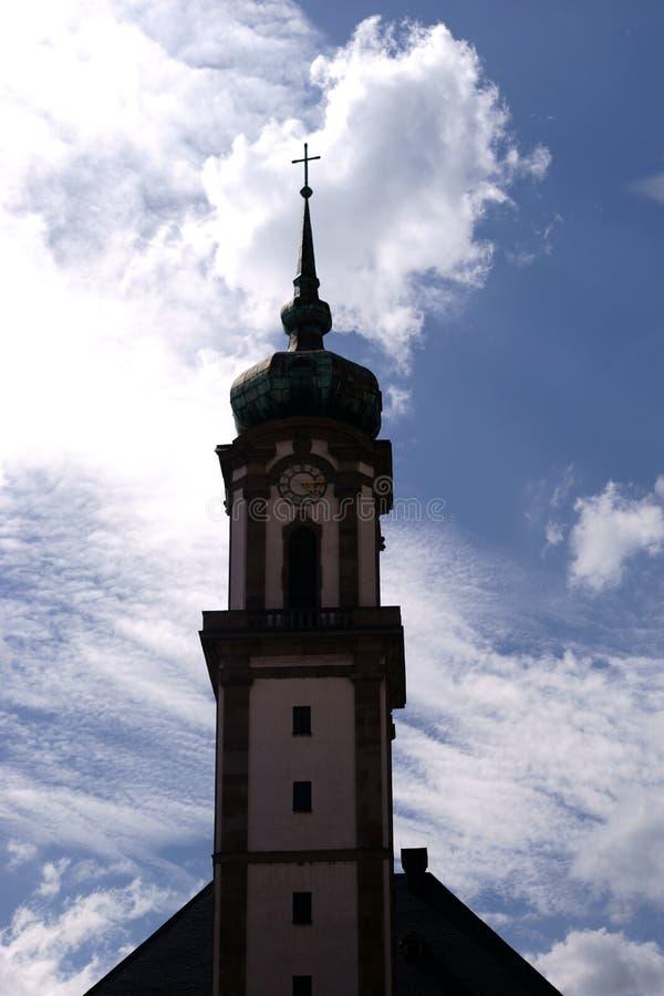 Tornförsoningkyrka Voelklingen royaltyfri foto