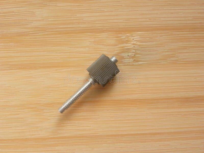 Tornillo cilíndrico pequeño de aluminio imagen de archivo libre de regalías
