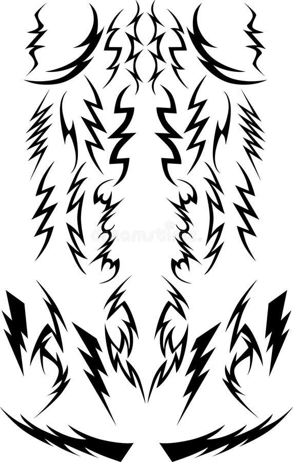 Tornillos de relámpago del vector ilustración del vector