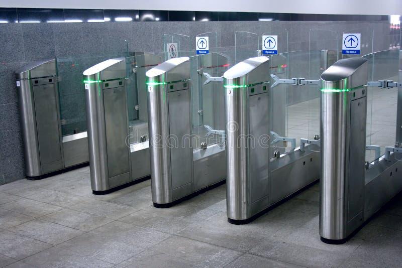 Torniquete do metro foto de stock