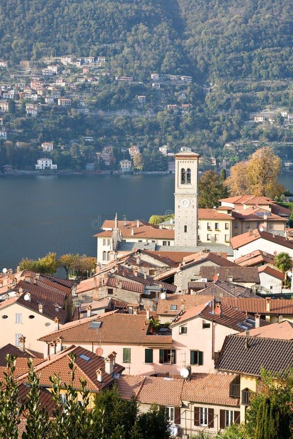 Torno, Como See, Italien stockbilder