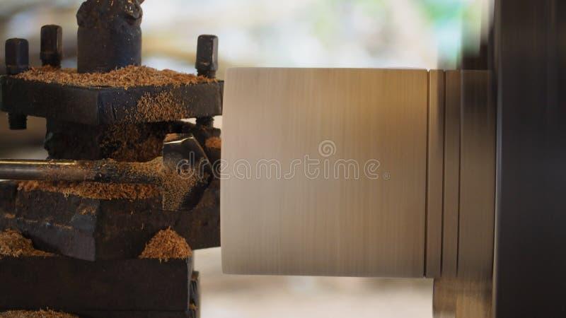 Torno de torneado de madera fotos de archivo