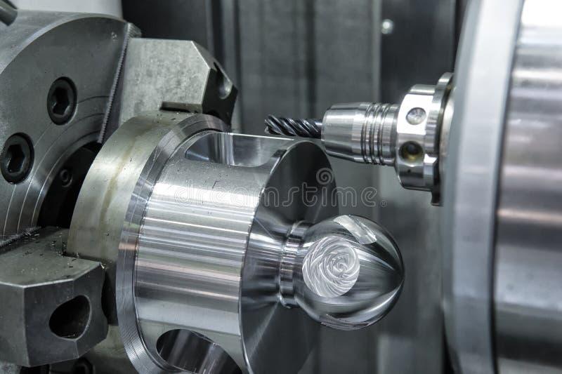 Torno, el moler del CNC fotografía de archivo