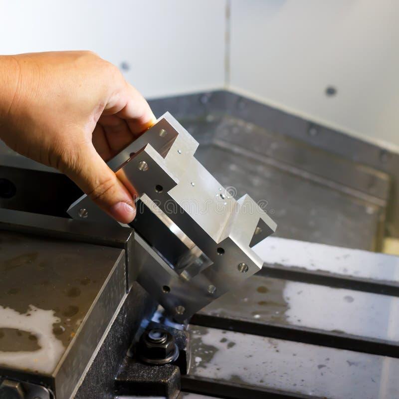 Torno, fresadora del CNC fotografía de archivo libre de regalías
