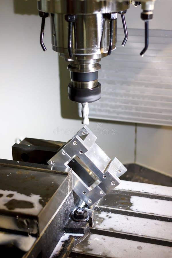 Torno, máquina de trituração do CNC imagens de stock royalty free