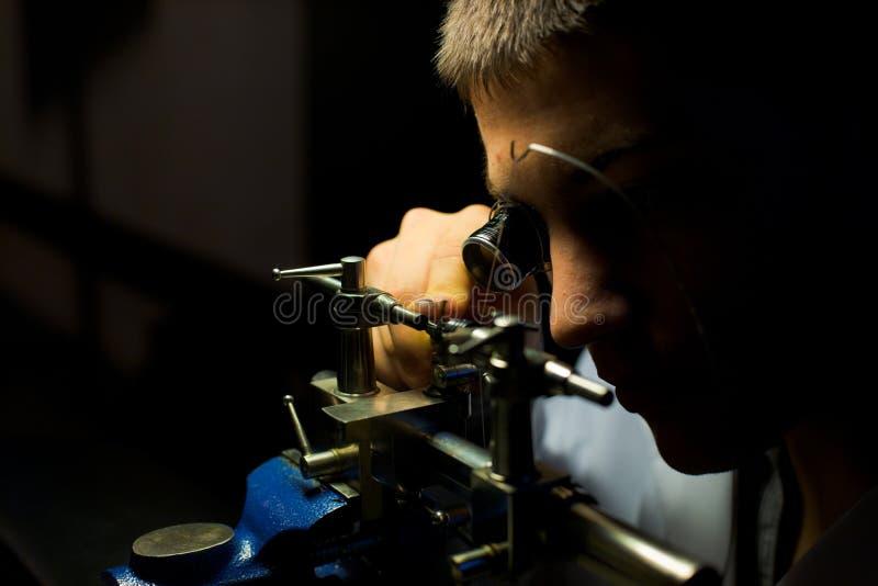 Torno suizo H del relojero fotografía de archivo libre de regalías
