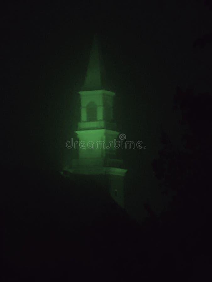 Tornspiran för kyrka för fasafilm royaltyfri foto